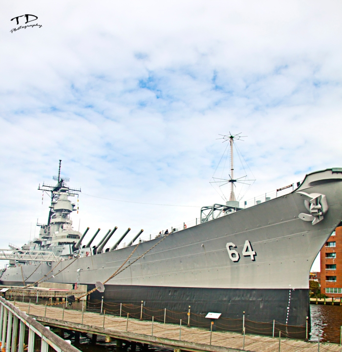 The battle ship USS Wisconsin (BB-64) Downtown Norfolk